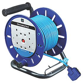 Masterplug Cable Reel 4G 240V 25m