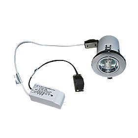 Robus Fixed Low Voltage Fire Rated Downlight Polished Chrome 12V