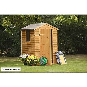 Forest Overlap Apex Shed 4' x 6' x 7' (Nominal)