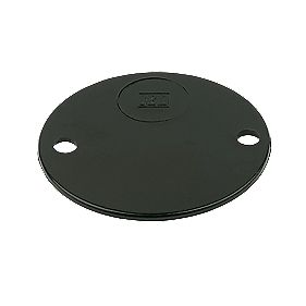 Circular Terminal Box Lid Black