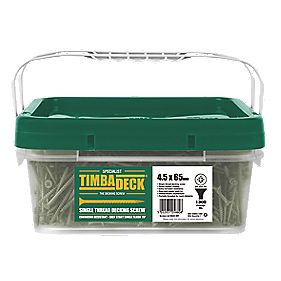 Timbadeck Countersunk Carbon Steel Decking Screws 4.5 x 65mm Pack of 1300