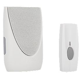 Wireless BY201 Portable Door Chime with Li-Ion Powered Bell Push