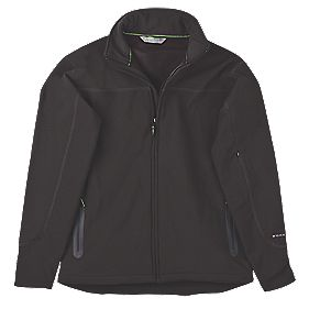 "Work It Scafell Soft Shell Jacket Black Large 44-46"" Chest"