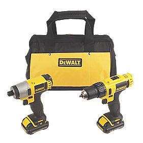 DeWalt DCK211S2 10.8V 1.3Ah Li-Ion Cordless Twin Pack Drill & Impact Driver