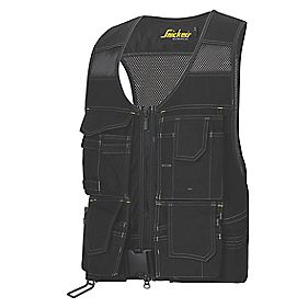 "Snickers Flexi Toolvest Black Medium 41"" Chest"