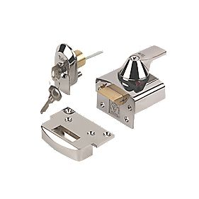 Yale BS Night Latch Polished Chrome 40mm Backset