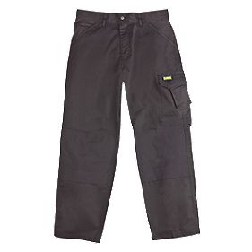 "DeWalt Cargo Trousers Black 36"" W 32"" L"