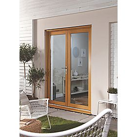 Jeld-Wen Double-Glazed French Doors Oak Veneer 1500 x 2100mm
