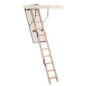 Loft Ladder Timber 2-Section 10-Tread