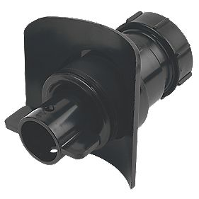 McAlpine Mechanical Pipe Boss Connector Black 40mm