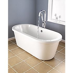 Contemporary Roll Top Free-Standing Bath Acrylic 1690mm