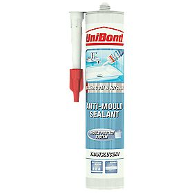 Unibond 1576425 Anti Mould Sanitary Sealant Clear 300ml