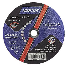 Norton Thin Metal Cutting Disc 230 x 1.9 x 22.23mm Pack of 5