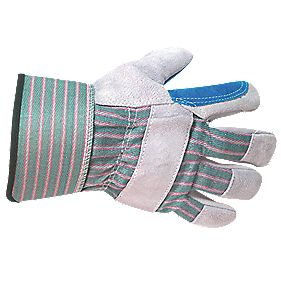 General Handling Double Palm Rigger Gloves Chrome / Green X Large