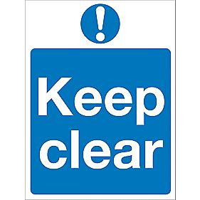 """Keep Clear"" Sign 200 x 150mm"
