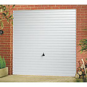 "Horizon 7' 6"" x 6' 6"" Frameless Steel Garage Door White"