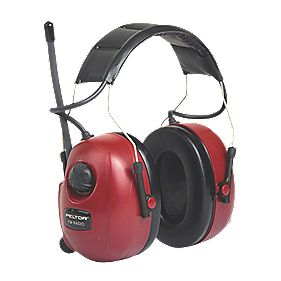 3M Peltor FM Radio Ear Defenders Red 32dB SNR
