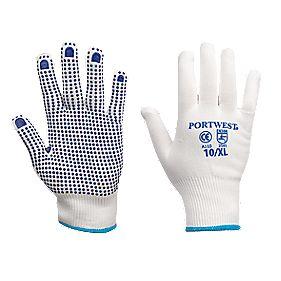 Nylon Polka Dot Gloves Blue X Large
