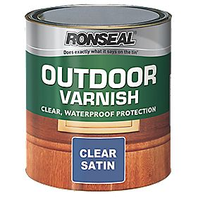 B and Q Outdoor Varnish Satin Clear 750ml