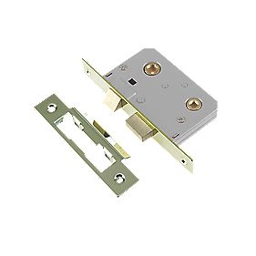 Century Bathroom Mortice Lock Brass 22 x 76mm