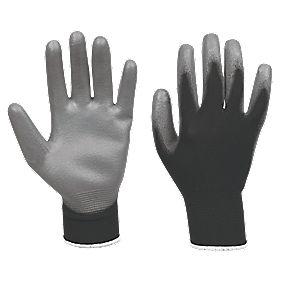 PU Palm Gloves Black/Grey Medium