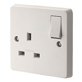 Crabtree 13A 1-Gang DP Switched Socket