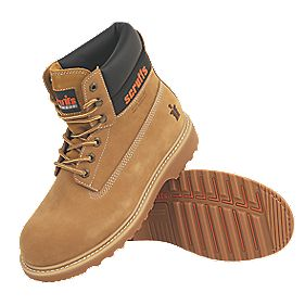 Scruffs Stratus Safety Boots Tan Size 10