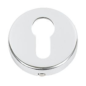 Euro Profile Escutcheon Polished Aluminium 50mm Pair