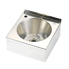 Franke Model A Wall-Hung Wash Basin 2 Tap Hole Stainless Steel 290 x 290mm