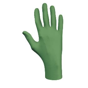 Showa Best Green Dex Nitrile Biodegradable Powder-Free Disposable Gloves M Pk100