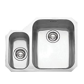 Franke Ariane ARX 160 Stainless Steel 1½ Bowl Undermount Kitchen Sink LH