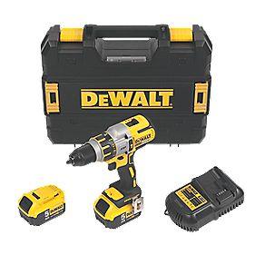 DeWalt DCD937P2 14.4V 5.0Ah Li-Ion Cordless Combi Drill XR Brushless