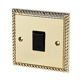 1-Gang 10A Intermediate Switch Georgian Brass