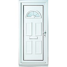 Kingsbury Fan-Light Front Door LH uPVC LH 920 x 2085mm