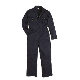 "Dickies Economy Stud Front Coverall Navy Large 44-46"" Chest 30"" L"