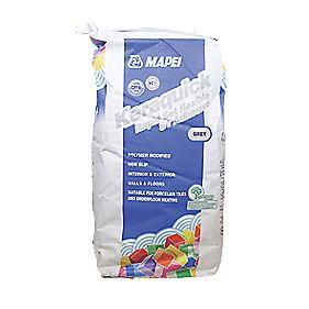 Mapei Keraquick Rapid Set Flexible Tile Adhesive Grey 10kg Wall Floor Tile Adhesive Grout