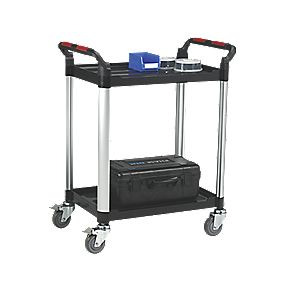 Premium Aluminium / Plastic Shelf Trolley - 2 Shelf