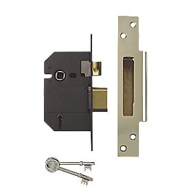 "Yale 5-Lever BS Mortice Sashlock Polished Brass 2½"" (64mm)"