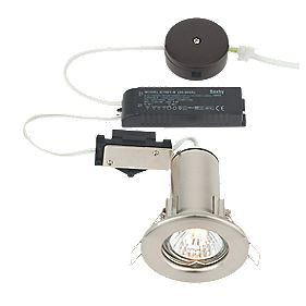 LAP Round Low Voltage Fire Rated Downlight Pre-Wired Brushed Chrome Eff 12V