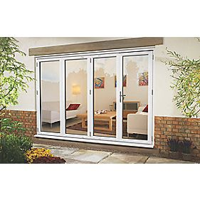 uPVC Fold & Slide Double-Glazed Patio Door LH White 2990 x 2090mm