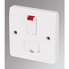 MK 13A DP Switched Fused Connection Unit with Neon White