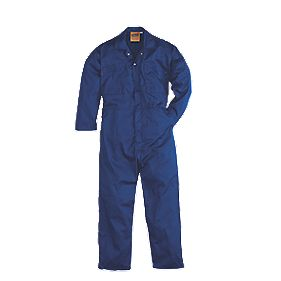 "Work Safe Traditional Polycotton Boiler Suit Blue X Large 48″ Chest 30"" L"