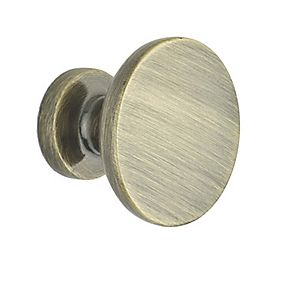 Classic Disc Knob Antique Brass 30mm Pack of 2