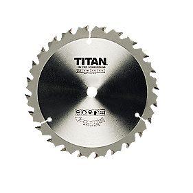 Titan TCT Circular Saw Blade 24T 190x16mm