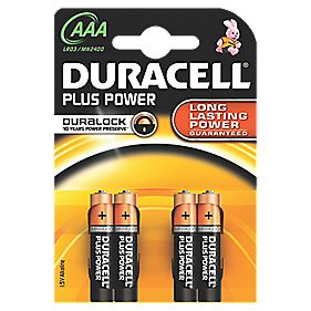 Duracell AAA Alkaline Batteries Pack of 4