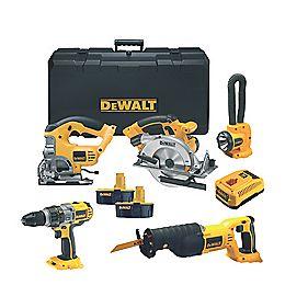 DeWalt DCX5PAKB2-GB 18V 5 Piece Combo Kit
