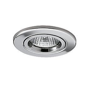 JCC Lighting Fixed Round Fire Rated Recessed Downlight Chrome 240V