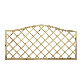 Forest Larchlap Hamburg Open-Lattice Fence Panels 1.8 x 0.9m Pack of 6