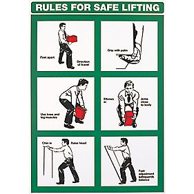 """Rules For Safe Lifting"" Poster 600 x 420mm"