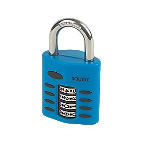 Squire Die-Cast Steel Combination Padlock Blue 40mm
